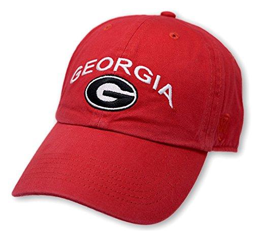 Georgia Baseball Hat (Georgia Bulldogs Hat Arch Red - Red Black)
