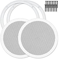 Reliable Hardware Company RH-4002-8-2-A White Universal Surface Mount 8 Speaker Covers, Pair
