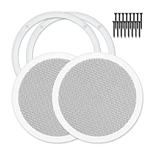 "Reliable Hardware Company RH-4002-8-2-A White Universal Surface Mount 8"" Speaker Covers, Pair"