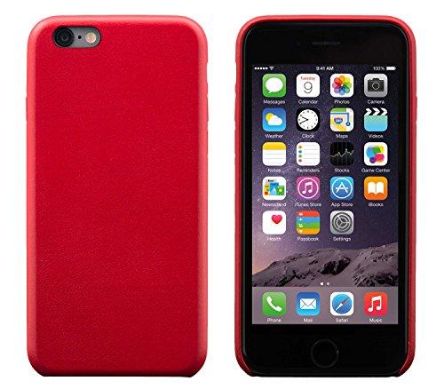 iPhone 6 Plus / 6S Plus Backcover-Case, FUTLEX Klassischen Stil Case aus echtem Leder - Rot - Ultra Slim - Präziser Zuschnitt und Design - Handgefertigt