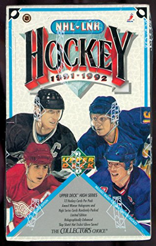 1991-92 Upper Deck Hockey Wax Pack Box High Series Set UpperDeck 1992