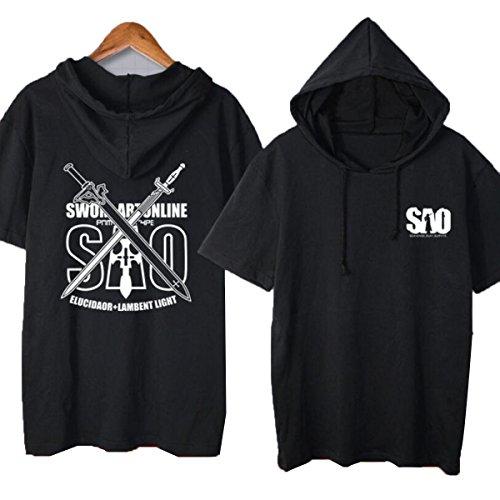 NSOKing Japanese Anime Sword Art Online SAO Costume Hoodie Kirito Tshirt (XX-Large, 03) ()