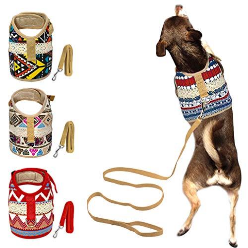 Muttitude Dog Harness & Leash Set for Small Breeds (Small, Goa)