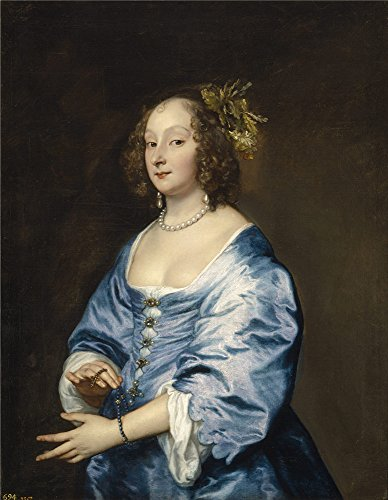 ['Dyck Anton Van Mary Ruthven Lady Van Dyck Ca. 1639 ' Oil Painting, 30 X 39 Inch / 76 X 98 Cm ,printed On Perfect Effect Canvas ,this High Definition Art Decorative Prints On Canvas Is Perfectly Suitalbe For Basement Gallery Art And Home Decor And] (White Trash Lady Costume)