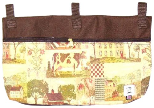 Handi Pockets 2c7cq Storage Accessory Walker, Tapestry, County Quilt with Zipper and Flap