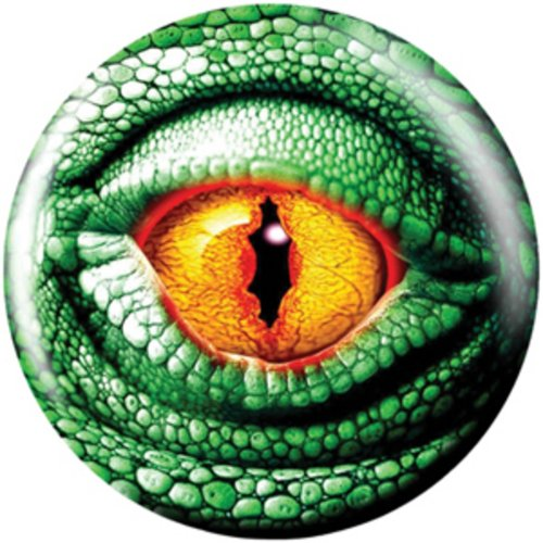 Brunswick Products Lizard Glow Viz-A Bowling Ball, Green/Black, 8 lb