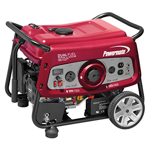 Powermate 6957 DF3500E 3500 Watt dual FUEL moveable Generator - Electric Start/CSA Compliant Cheap For You