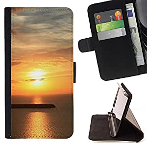 For Samsung Galaxy E5 E500 Case , Sunset Beautiful Nature 62- la tarjeta de Crédito Slots PU Funda de cuero Monedero caso cubierta de piel