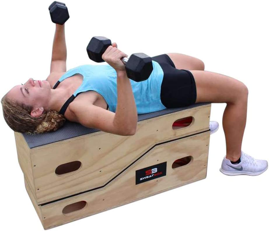SWEATBOX - Workout from Home - New Innovative Patented Fitness Apparatus-Perform Hundreds of Training Exercises All On One Unique Box-Sold As Pair