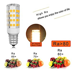 E12 LED Bulb 5W Microwave Oven Light 50W Equivalent Warm White 2800K Microwave Bulb 110V Microwave Light Bulb 300 Lumens LED Light Bulb Pack of 5