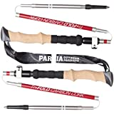Tri-Fold Carbon Cork Trekking Poles / Sticks - Folding, Collapsible, Adjustable,
