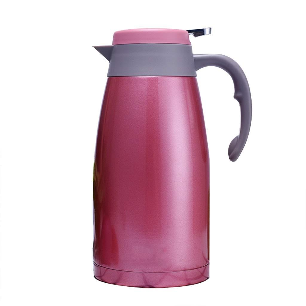 FYCZ Thermoskannen, Vakuum 2L Hohe KapazitäT Isolierte Auto-Reisebecher-Flasche Doppelwandige Auslaufsichere Kaffee-Nahrung HeißEs Und Kaltes GeträNk G5