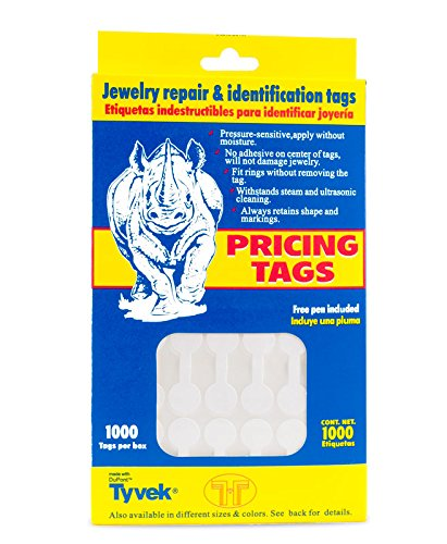 Jewelry Price Tags - Round White (1000pcs) (Sequins Tags)