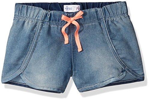 Freestyle Revolution Big Girls' Betsy Shorts, Light Wash, 10 ()
