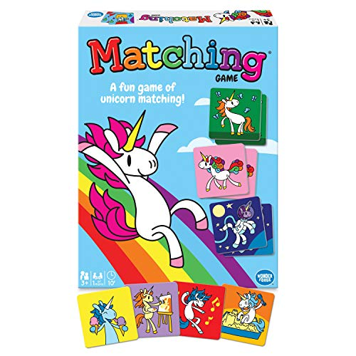 Wonder Forge Unicorn Memory Matching Board Game for Boys & Girls Age 3 to 5 - A Fun & Fast Magical Memory Game, Model:60001790