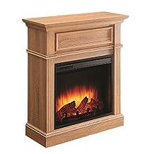 ComfortGlow EF5568RKD Briarton Electric Fireplace in Rich Heritage Oak Mantel Finish, 1500-Watt