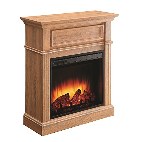 - Comfort Glow EF5568RKD Briarton Electric Fireplace in Rich Heritage Oak Mantel Finish, 1500-watt