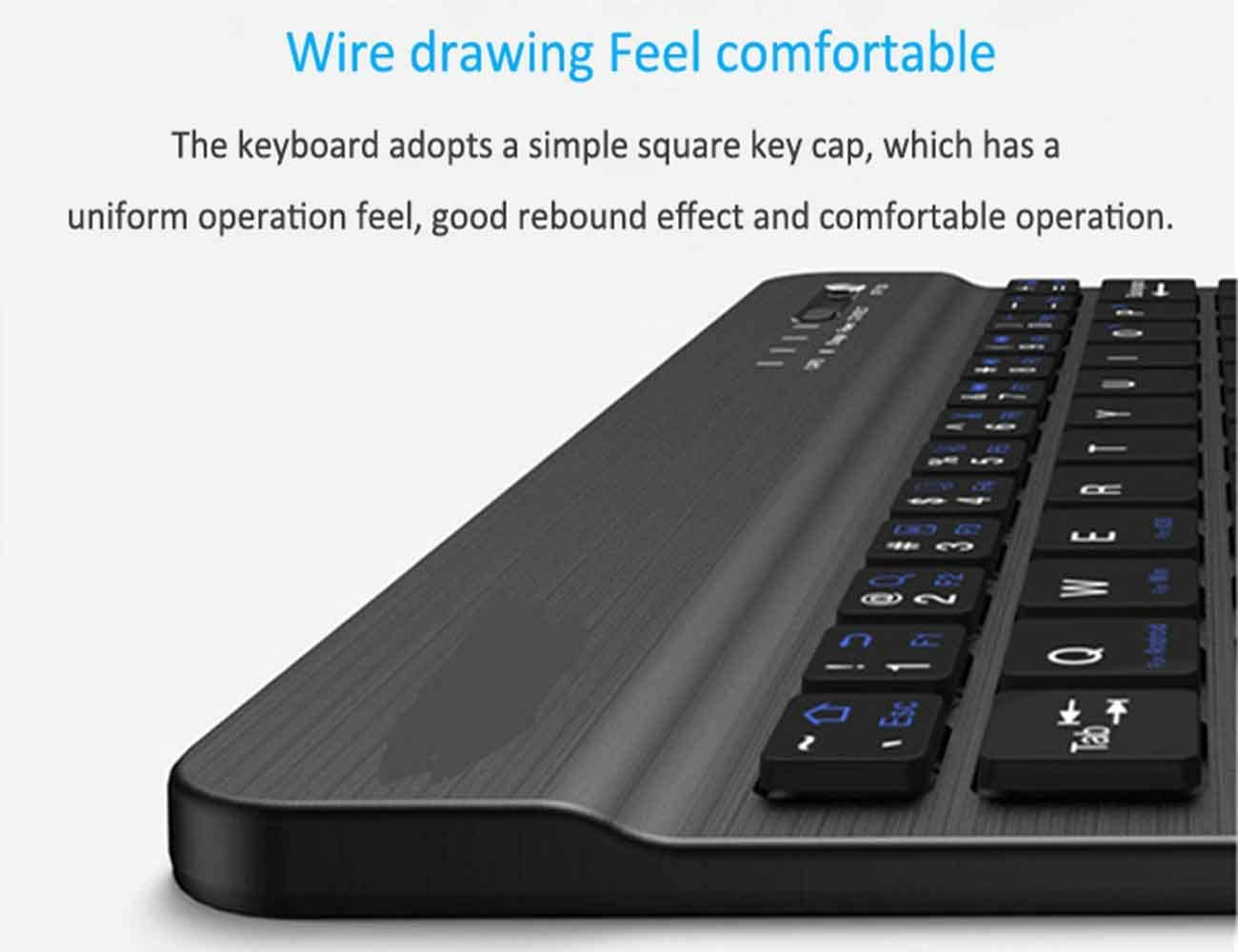 LJ2 Bluetooth Keyboard Support Mobile Phone Tablet Three Systems Ultra-Thin Wireless Bluetooth Keyboard