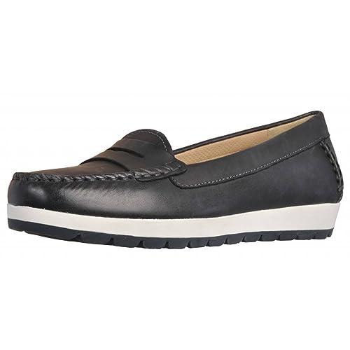 Mocasines para Mujer, Color Negro, Marca GEOX, Modelo Mocasines para Mujer GEOX D Senda S Negro: Amazon.es: Zapatos y complementos