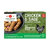 Applegate Naturals Chicken and Sage Breakfast Sausage, 7 oz (2 Pack)