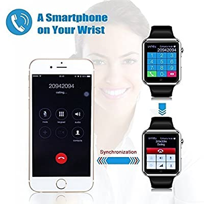 Sweatproof Watch Monitor Smart Watch Phone for iPhone 5s/6/6s and 4.2 Android or Above SmartPhones-Silver/Black/Gold