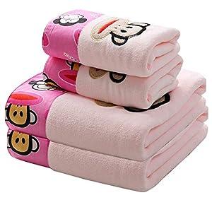 towells Telo Mare Asciugamano da Bagno in Puro Cotone, Asciugamano Super Assorbente per Bambini, Completo da Scimmia… 1 spesavip