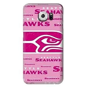 S6 Edge Case, NFL - Seattle Seahawks Pink Blast - Samsung Galaxy S6 Edge Case - High Quality PC Case