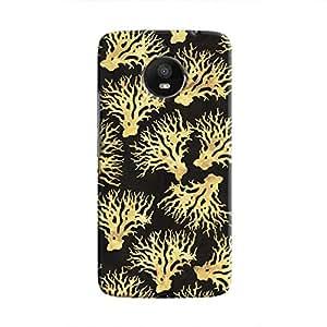 Cover It Up - Gold Black Nature Print Moto E4 Plus Hard Case