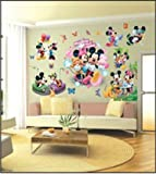 ENFANTS STICKERS MURAUX GRAND DISNEY MICKEY MOUSE MINNIE AUTOCOLLANTS FILLES CHAMBRE DE MUR CHAMBRE DECOR Décoration Sticker Adhesif Mural Géant Répositionnable