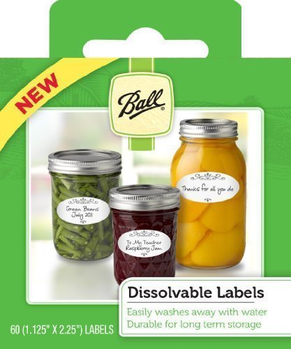 Ball Dissolvable Canning Labels, 60 Count (Pack of 2)