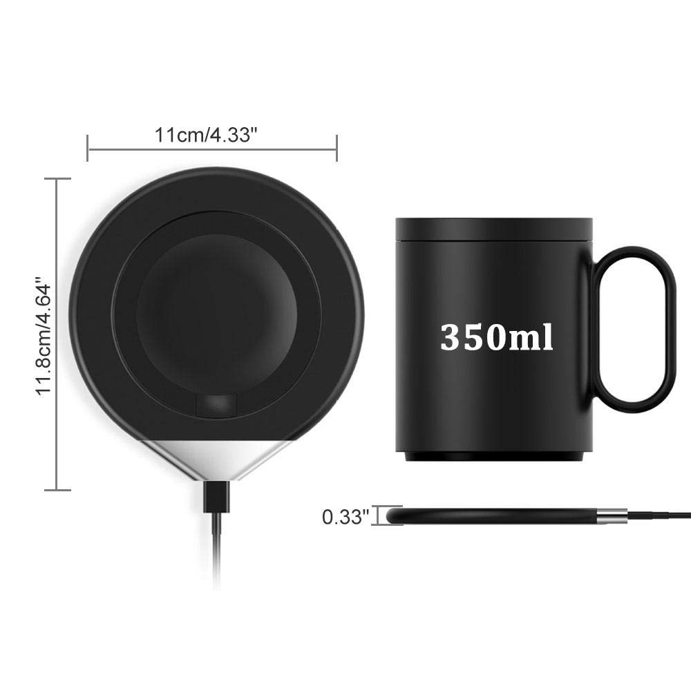 Hamkaw Coffee Mug Warmer with Wireless Charger, [2019 Upgrade 2-in-1] Coffee Tea Milk Cup Warmer & QI Wireless Phone Charger, Creative Candle Wax Warmer, Novelty Gift for Mother/Father by Hamkaw (Image #3)