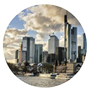 alfombrilla de ratón Horizonte de Frankfurt - ronda - 20cm