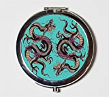 Dragon Tattoo Compact Mirror Japanese Japan Asian Art Make Up Pocket Mirror for Cosmetics