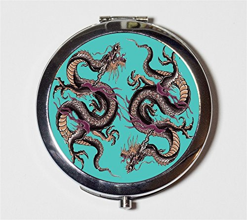 Dragon Tattoo Compact Mirror Japanese Japan Asian Art Make Up Pocket Mirror for Cosmetics by Fringe Pop