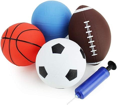 Amazon.com: Boley - Juego de 4 pelotas de fútbol, baloncesto ...