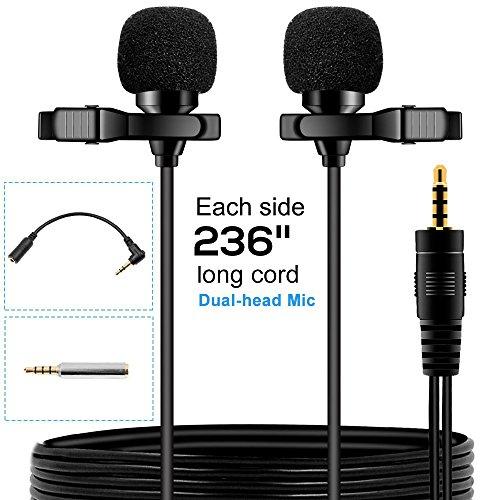 EASJOY Dual-head Lavalier Microphone,236