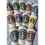 Personalized Reusable Starbucks Coffee Cup 16oz - SHIPS FREE - Variety of Colors Available