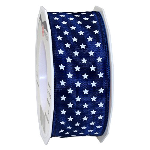 Morex Ribbon Mini Stars Ribbon, 1 1/2 by 22-Yard, Royal Blue