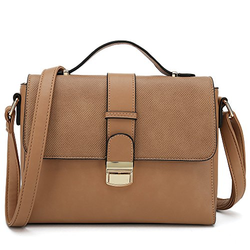 Women's Cross Body Handbags for Ladies Desginer Purses Stylish Shoulder Bags (Brown) -