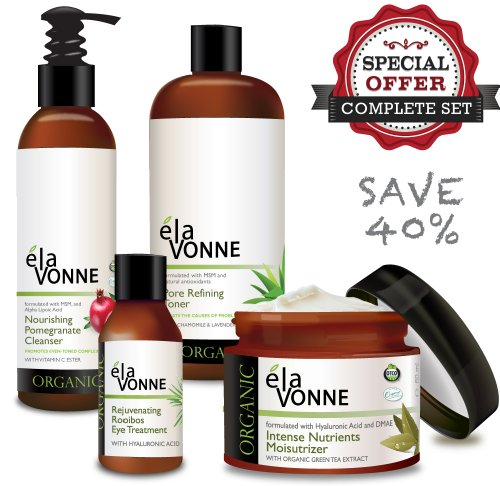 [Elavonne Organic Essentials Skin Care Kit (Full Sized Products)] (Facial Care Kit)