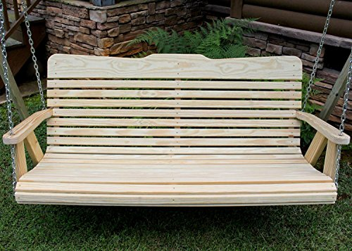 Handmade Amish Heavy Duty 800 Lb 4ft. Porch Swing- Made in USA For Sale