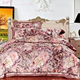 YiXinZhaiPei Floral cotton 4 piece duvet cover set , queen