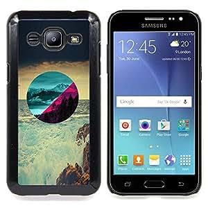 - Beautiful Scenery - - Cubierta del caso de impacto con el patr??n Art Designs FOR Samsung Galaxy J2 Queen Pattern