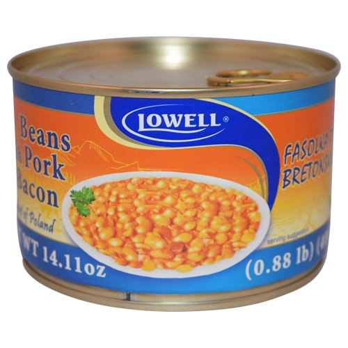 Lowell Foods Canned Beans with Pork & Bacon 400g