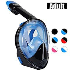 Awesome 180° View, So Cool for Experienced and Novice SnorkelersTrimagic revolutionize 180° full face snorkeling mask is for the user looking for the panoramic view, a newbie to snorkeling like kids, or a person with breathing issues, it will...