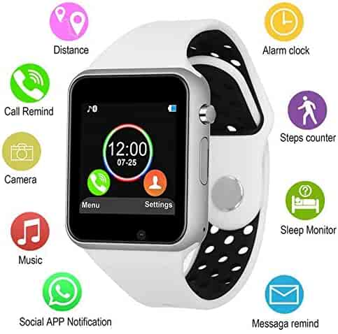 Smart Watches, JACSSO Touch Screen Bluetooth Smartwatch with Camera Unlocked Smart Watch with SIM TF Card Slot Smart Wrist Watch Compatible Android Phones Samsung LG iOS iPhone for Men Women Kids