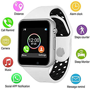 Smart Watches, JACSSO Touch Screen Bluetooth Smartwatch with Camera Unlocked Smart Watch with SIM TF Card Slot Smart Wrist Watch Compatible Android Phones ...
