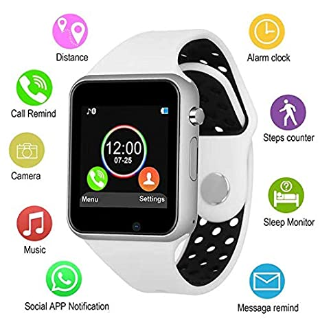 Amazon.com: JACSSO - Reloj inteligente Bluetooth con ranura ...