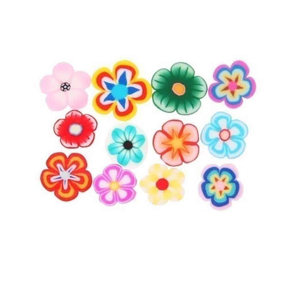 MyworldAmaze 1000pcs 3D Fruit Animals Fimo Slice Clay DIY Nail Art Tips Sticker Decoration by MyworldAmaze