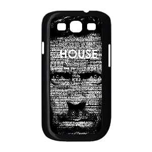 Preview Doctor House Typography funda Samsung Galaxy S3 9300 caja funda del teléfono celular del teléfono celular negro cubierta de la caja funda EEECBCAAL06460